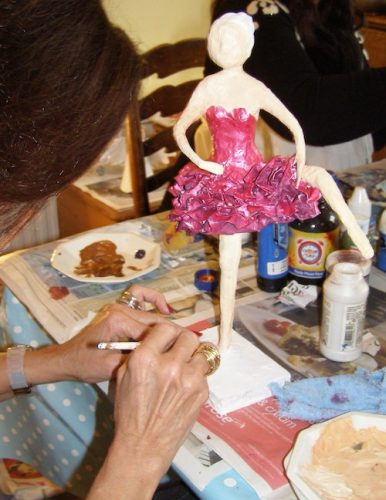 papier mache workshop at Anita Russell's house