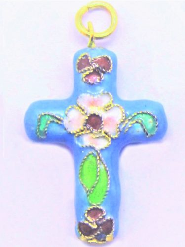 Cloisonné crucifix necklace gift