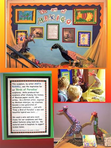 primary school art research Anita Russell
