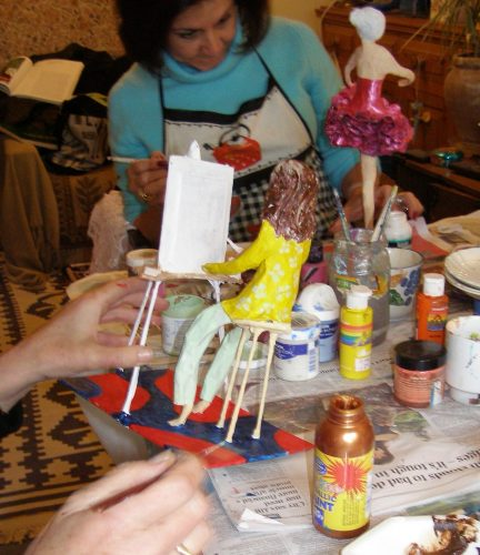 papier mache workshop finishing