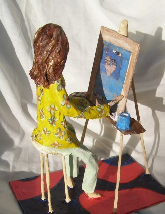 Papier mache sculpture from Anita Russell workshop