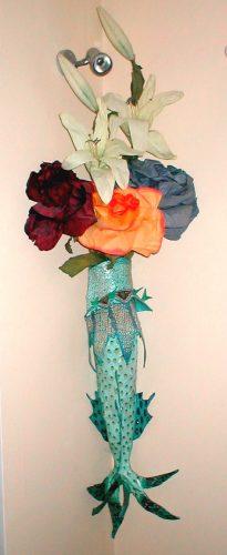 papier mache large fish vase