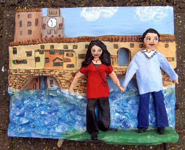 recreation of Florence honeymoon