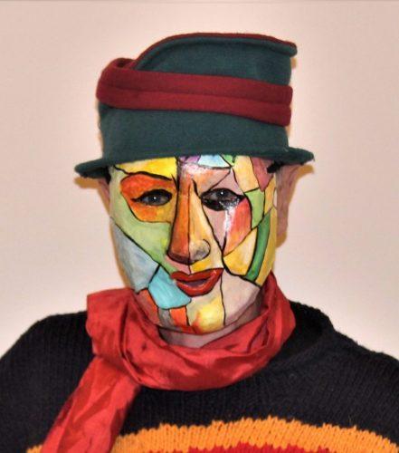 Picasso papier mache mask