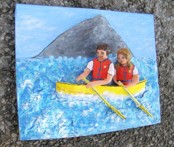 Canoe paper anniversary gift