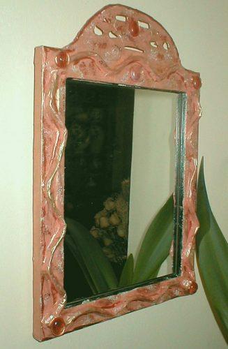 papier mache mirror workshop