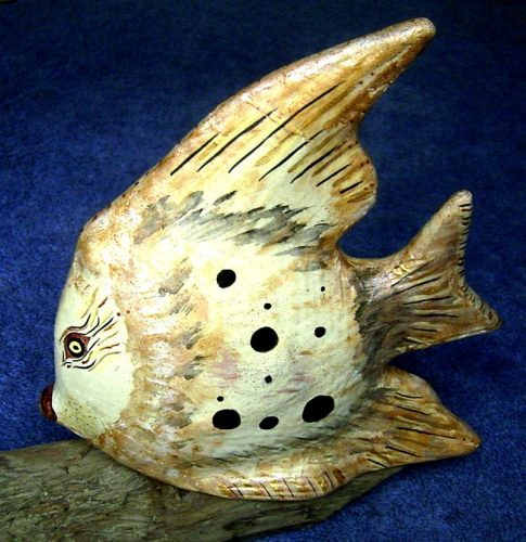 papier mache angel fish