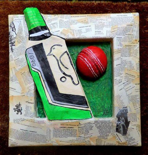 papier mache cricket birthday gift
