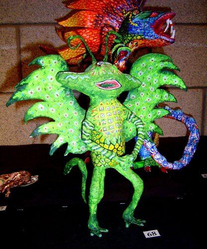 papier mache alien by Anita Russell
