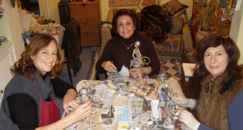 papier mache workshop with Anita Russell