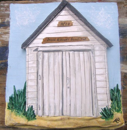 beach hut commission papier mache