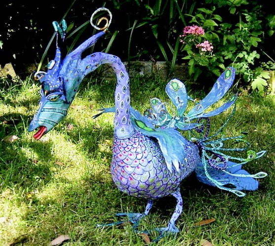 Truly a Bird of Paradise Papier mache by Anita Russell