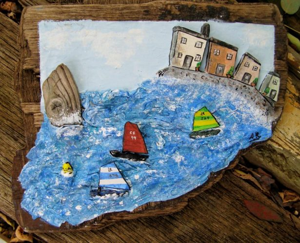 Commissioned Papier Mache racing dinghies