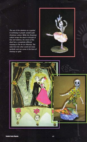 Publicty for Day of Dead sculpture figurines