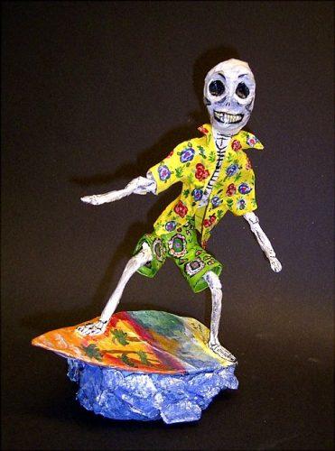Silver Surfer papier mache skeleton