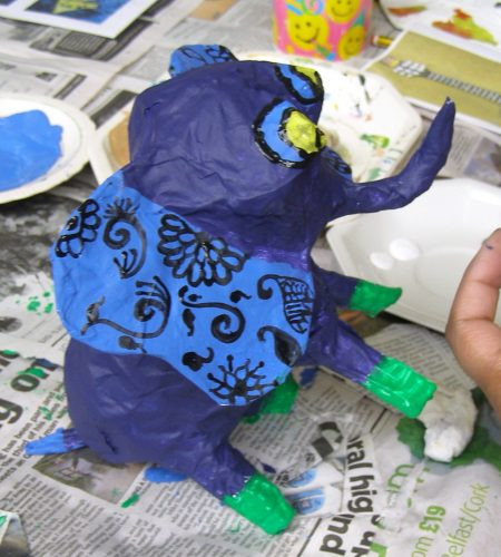 papier mache elephant workshop