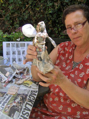 angel papier mache workshop