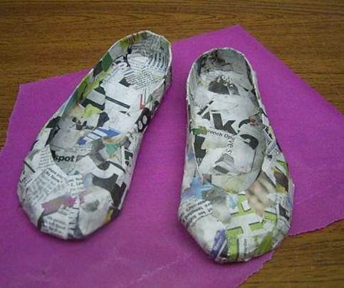 papier mache shoe workshop