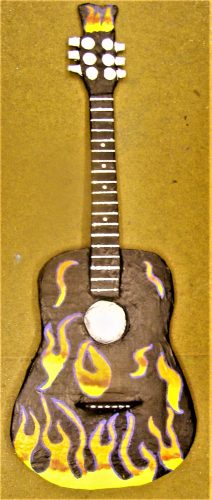 papier mache finished guitar replica