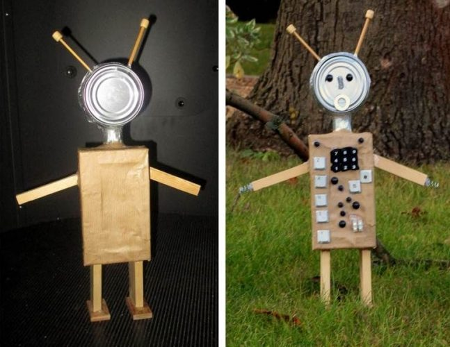 papier mache robot