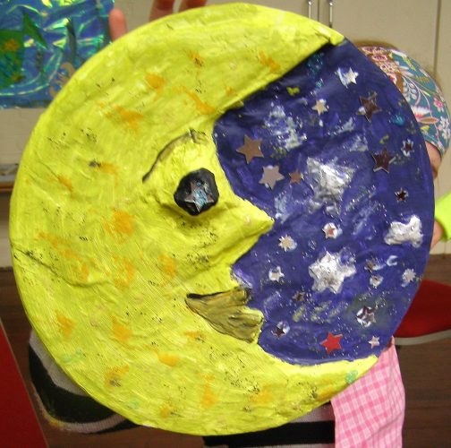 papier mache man in the moon workshop