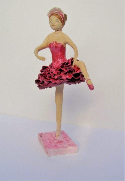 Papier mache ballerina made in an Anita Russell workshop
