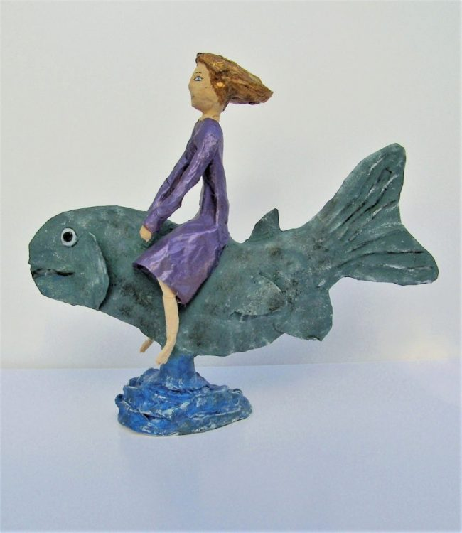 Papier mache sculpture created in an Anita Russell workshop