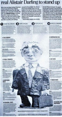 Newspaper article about papier mache chancellor