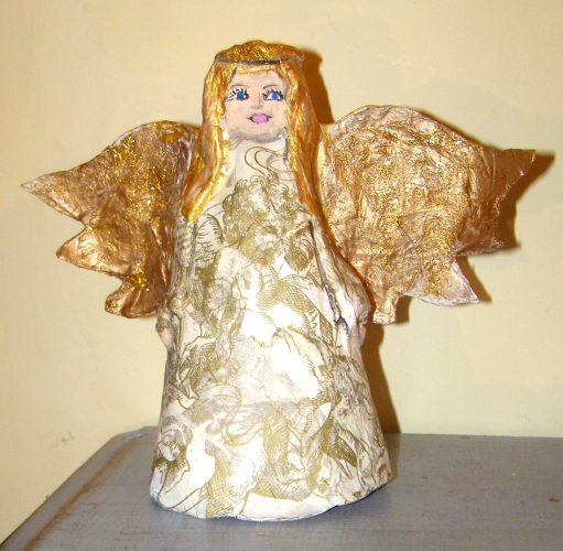 make a papier mache angel