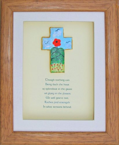 poppy design bereavement gift