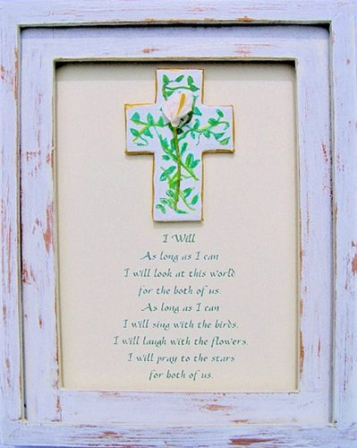 lily design framed bereavement gift
